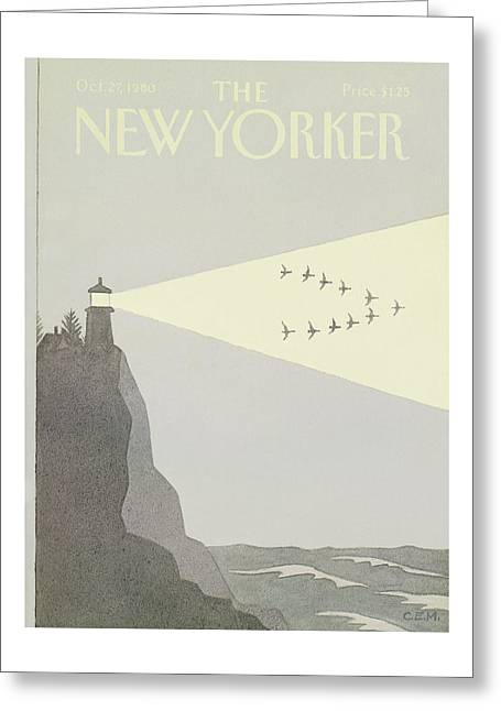 New Yorker October 27th, 1980 Greeting Card