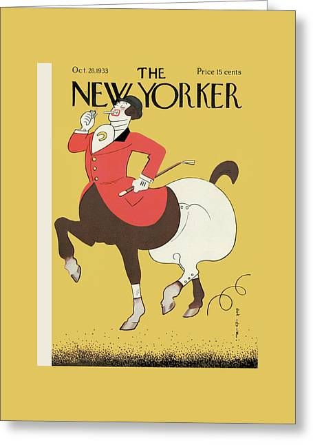 New Yorker October 28th, 1933 Greeting Card by Rea Irvin