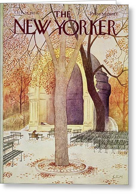 New Yorker October 28th 1974 Greeting Card
