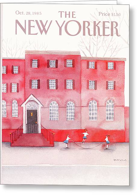 New Yorker October 28th, 1985 Greeting Card