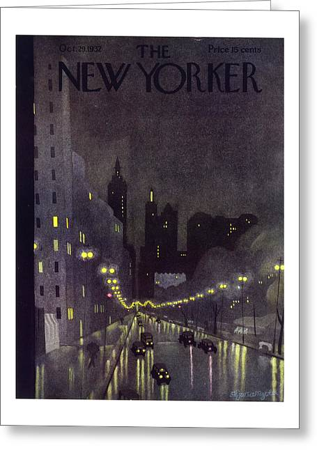 New Yorker October 29 1932 Greeting Card