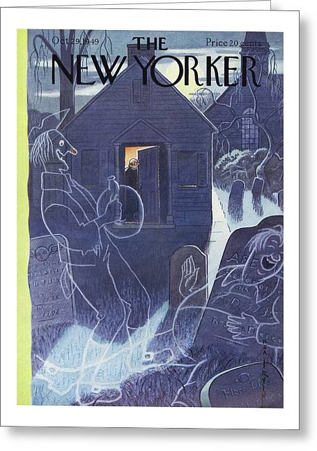New Yorker October 29th, 1949 Greeting Card