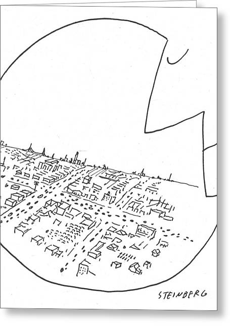 New Yorker October 29th, 1955 Greeting Card by Saul Steinberg