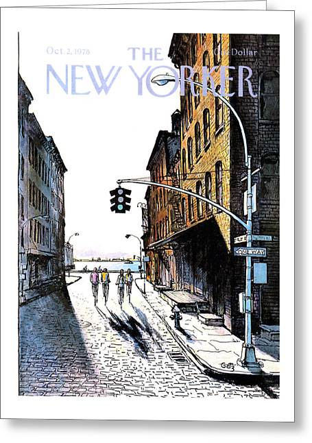 New Yorker October 2nd, 1978 Greeting Card