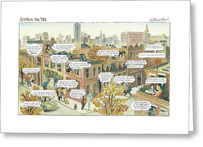 New Yorker October 2nd, 2000 Greeting Card