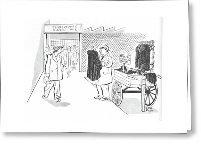 New Yorker October 30th, 1943 Greeting Card
