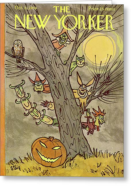 New Yorker October 31st, 1959 Greeting Card