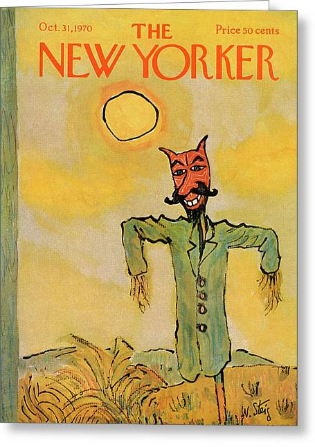 New Yorker October 31st, 1970 Greeting Card