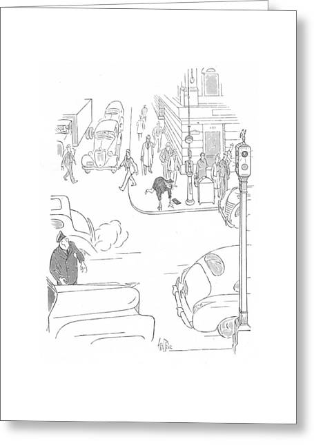 New Yorker October 3rd, 1942 Greeting Card