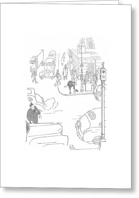 New Yorker October 3rd, 1942 Greeting Card by George Price