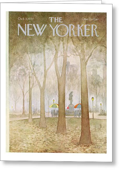 New Yorker October 3rd, 1977 Greeting Card