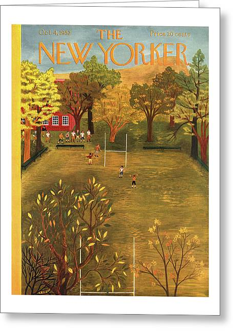 New Yorker October 4th, 1952 Greeting Card