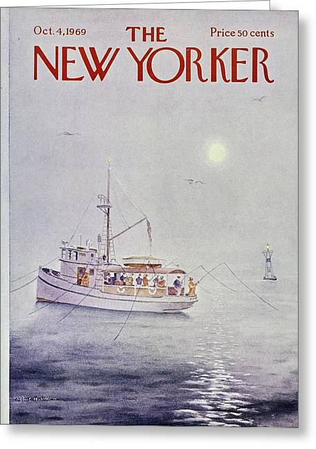 New Yorker October 4th 1969 Greeting Card