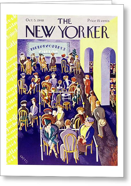 New Yorker October 5 1940 Greeting Card