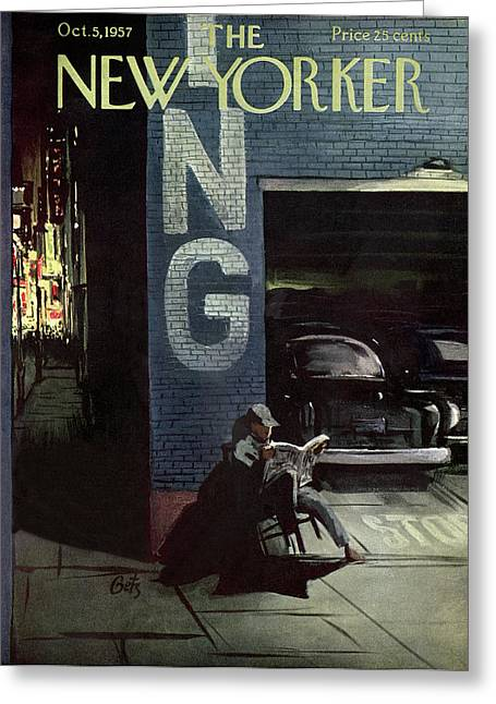 New Yorker October 5th, 1957 Greeting Card by Arthur Getz