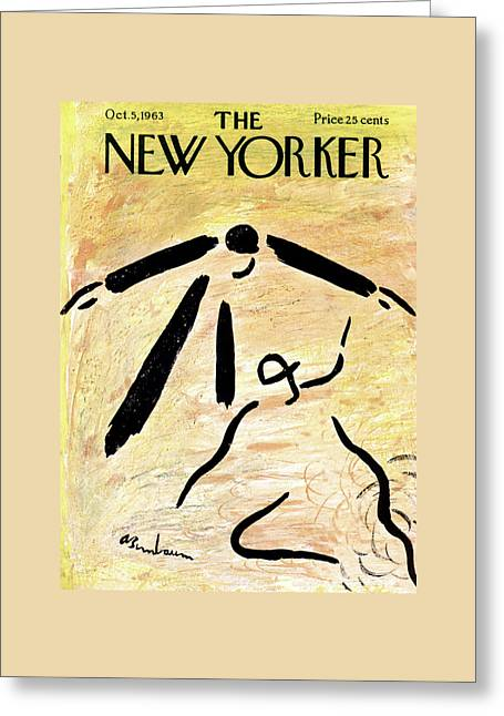 New Yorker October 5th, 1963 Greeting Card by Abe Birnbaum