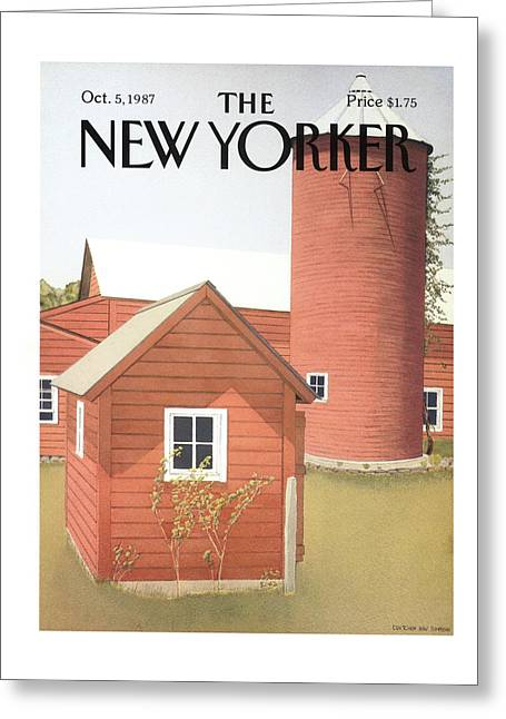 New Yorker October 5th, 1987 Greeting Card