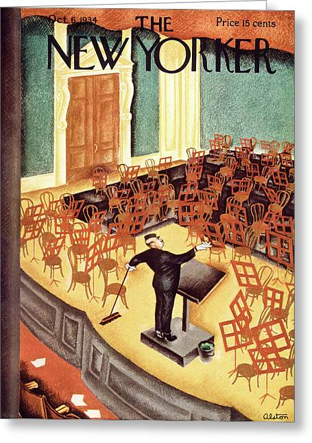 New Yorker October 6th, 1934 Greeting Card by Charles Alston