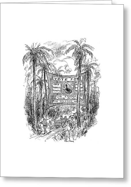 New Yorker October 7th, 1944 Greeting Card by Alan Dunn