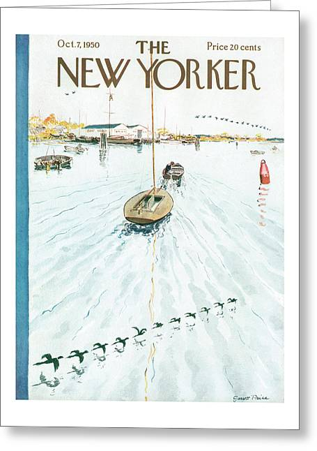 New Yorker October 7th, 1950 Greeting Card
