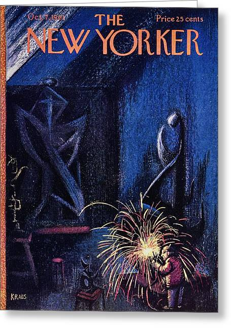 New Yorker October 7th 1961 Greeting Card by Robert Kraus