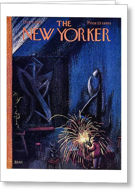 New Yorker October 7th 1961 Greeting Card