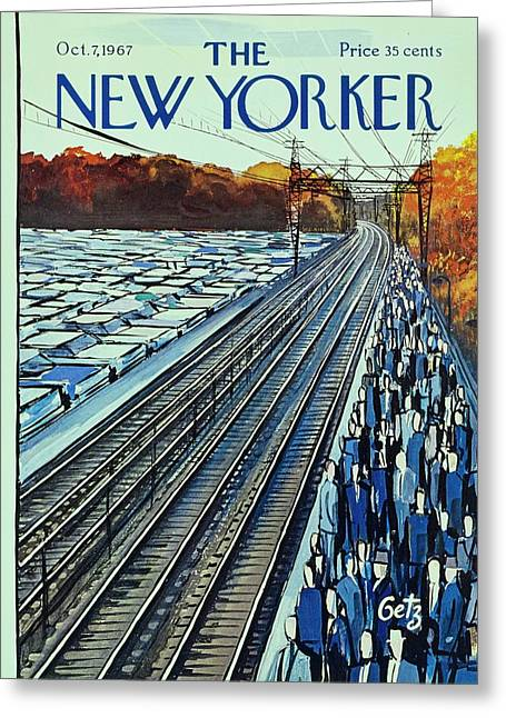 New Yorker October 7th 1967 Greeting Card