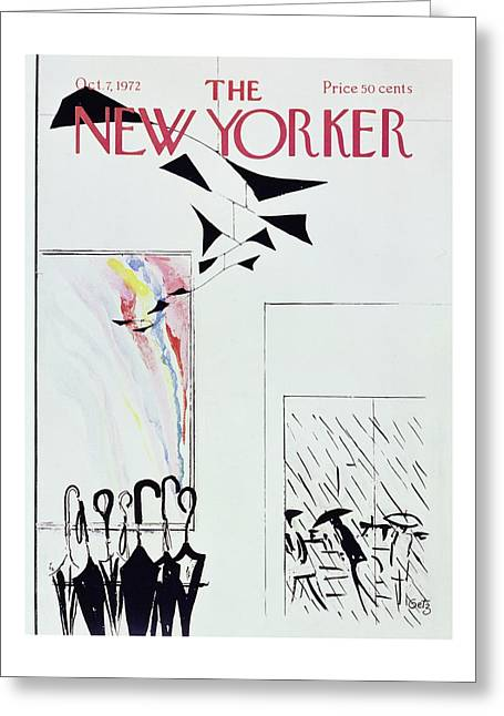 New Yorker October 7th 1972 Greeting Card by Arthur Getz