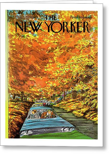 New Yorker October 7th, 1974 Greeting Card