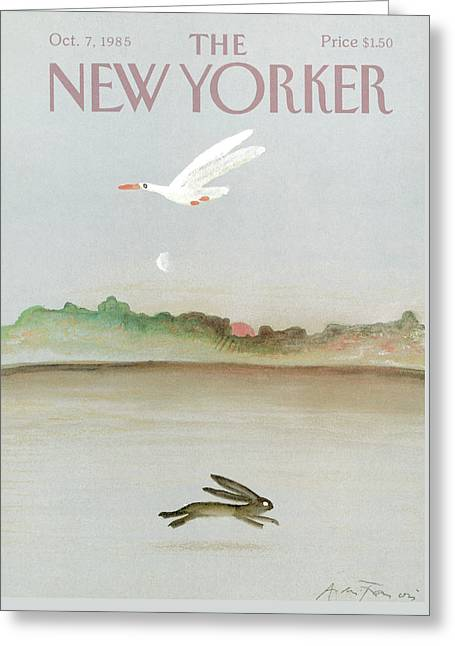New Yorker October 7th, 1985 Greeting Card by Andre Francois