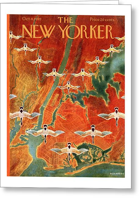 New Yorker October 8th, 1949 Greeting Card