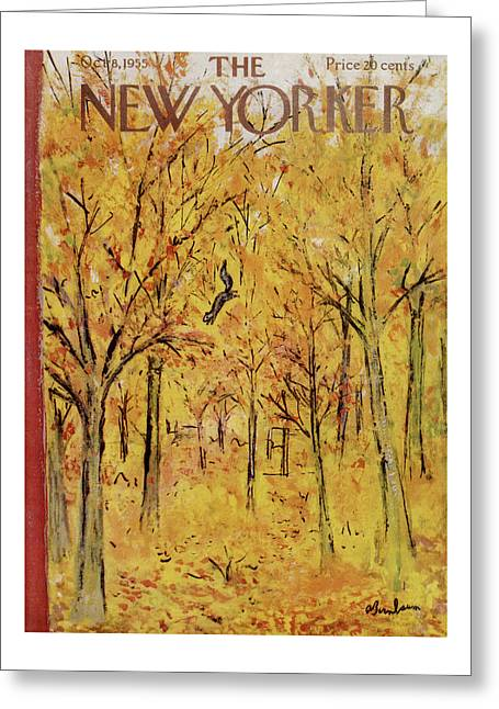New Yorker October 8th, 1955 Greeting Card