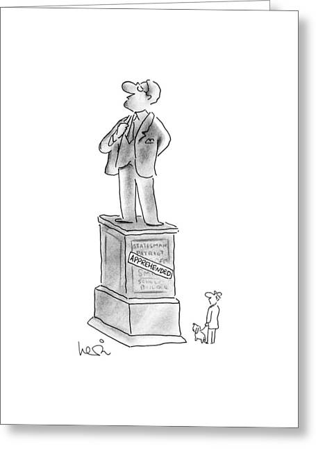 New Yorker October 8th, 1990 Greeting Card by Arnie Levin