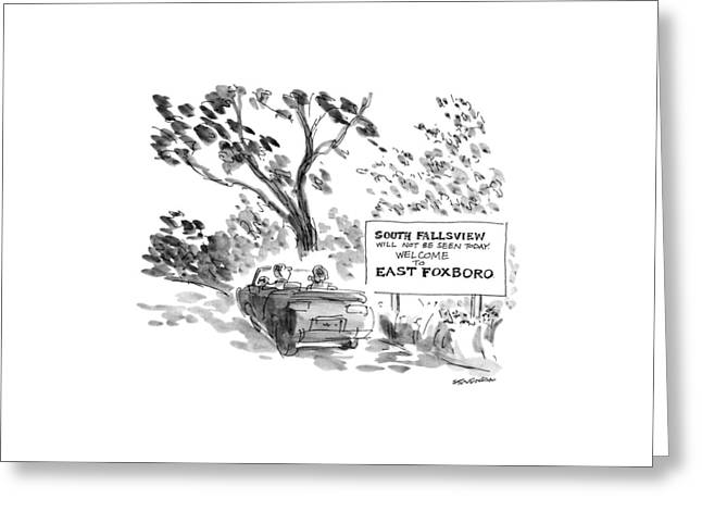 New Yorker October 8th, 1990 Greeting Card by James Stevenson