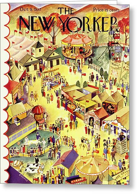New Yorker October 9 1937 Greeting Card