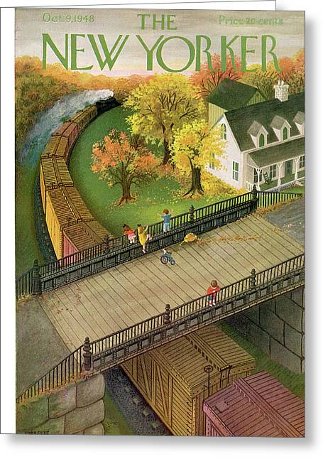 New Yorker October 9th, 1948 Greeting Card