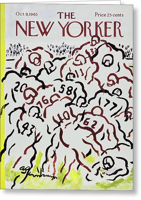 New Yorker October 9th 1965 Greeting Card