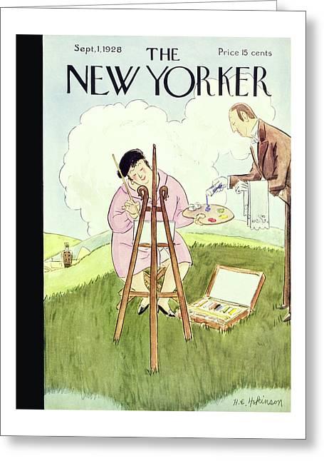 New Yorker September 1 1928 Greeting Card