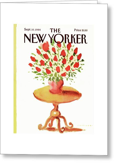 New Yorker September 10th, 1984 Greeting Card by Abel Quezada