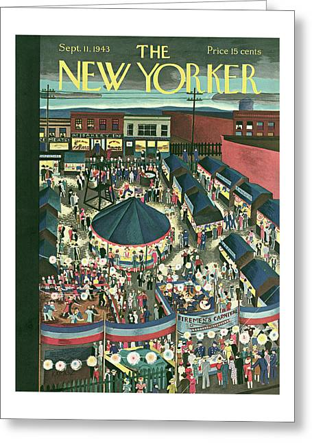 New Yorker September 11th, 1943 Greeting Card