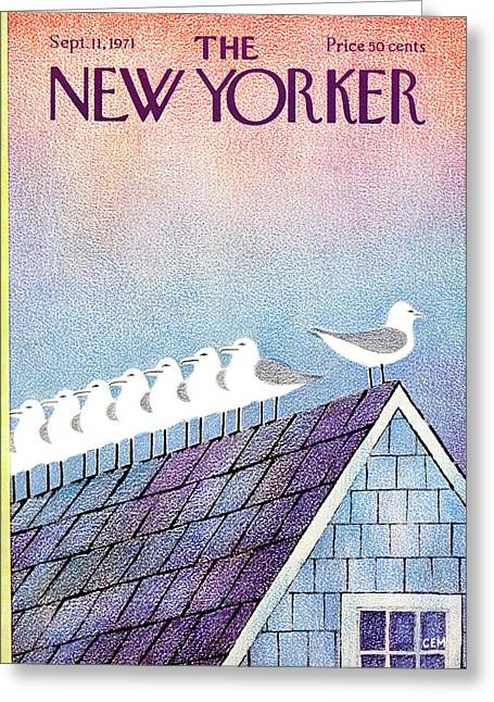 New Yorker September 11th, 1971 Greeting Card by Charles E. Martin