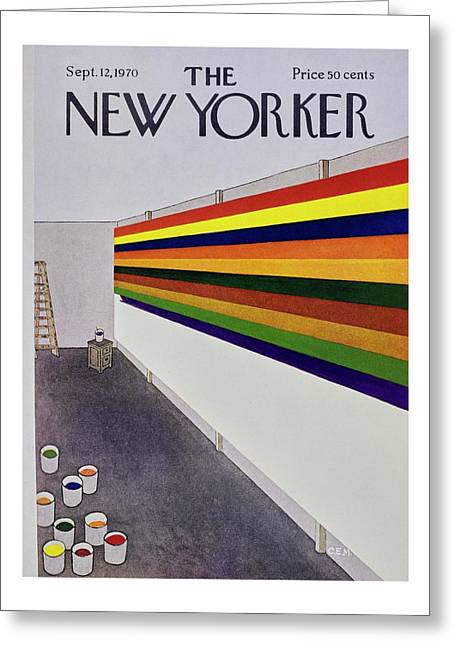 New Yorker September 12th 1970 Greeting Card