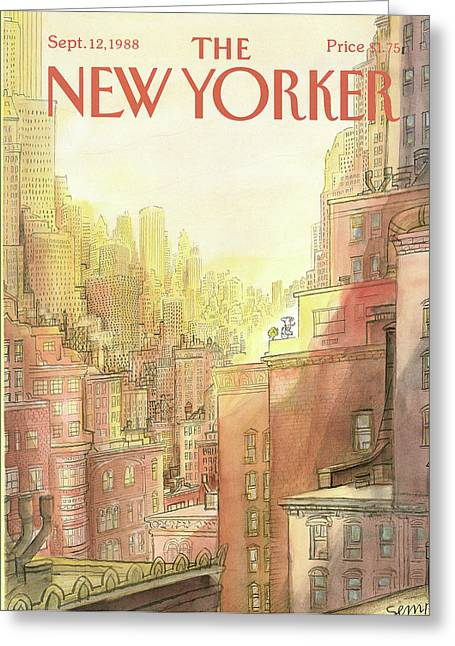 New Yorker September 12th, 1988 Greeting Card