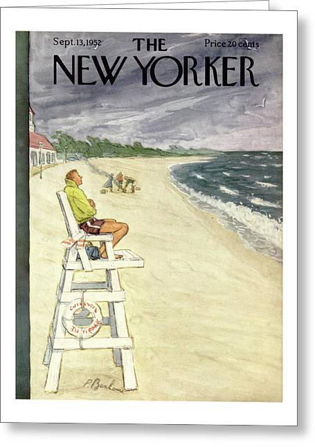 New Yorker September 13th, 1952 Greeting Card