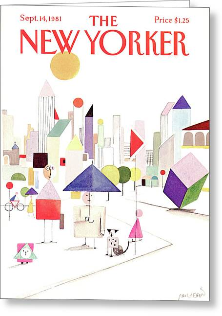 New Yorker September 14th, 1981 Greeting Card