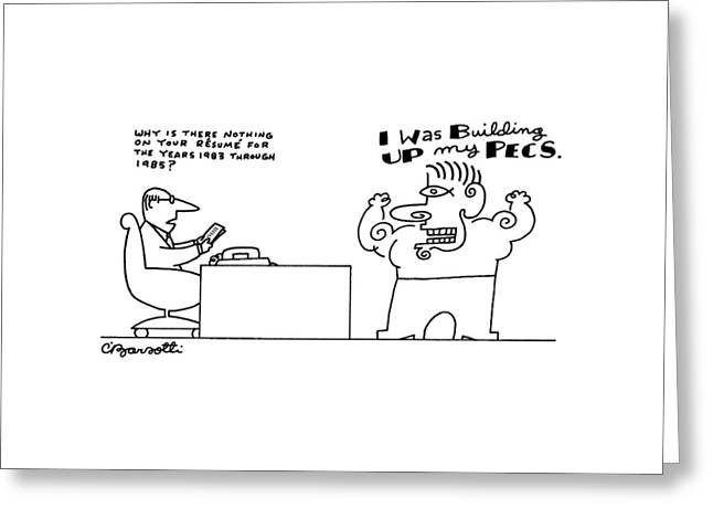 New Yorker September 14th, 1987 Greeting Card by Charles Barsotti