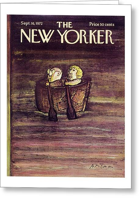 New Yorker September 16th 1972 Greeting Card