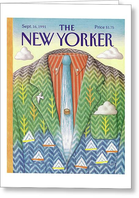 New Yorker September 16th, 1991 Greeting Card