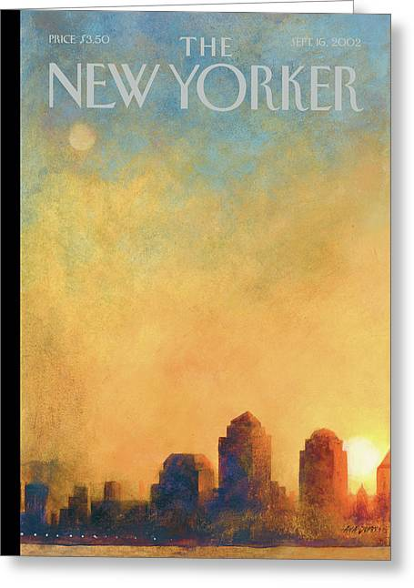 New Yorker September 16th, 2002 Greeting Card by Ana Juan