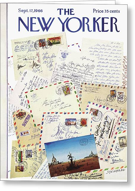 New Yorker September 17th, 1966 Greeting Card by Saul Steinberg